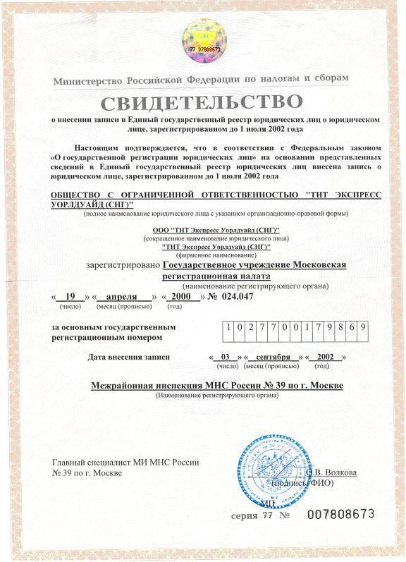форма бланка для внесения изменений в единый государственный реестр
